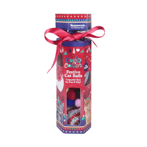 Rosewood Festive Ball Christmas Cat Cracker