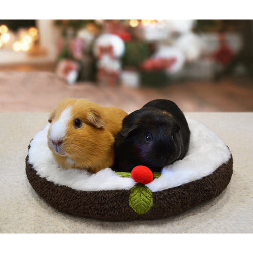 Rosewood Small Animal Christmas Pudding Snuggle Bed