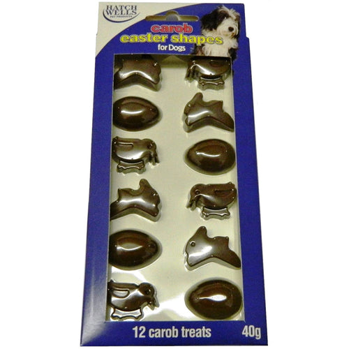 Hatchwells Carob Easter Shapes Dog Treats - Best Before 30/04/2021