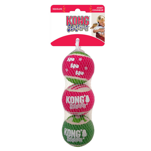 Kong Holiday SqueakAir Christmas Ball Medium 3pk