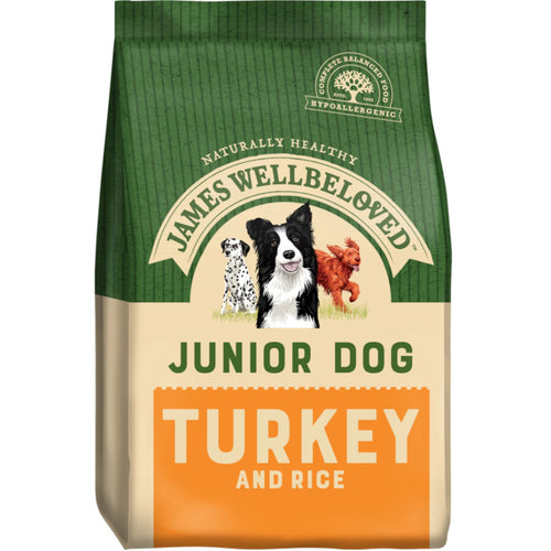 James Wellbeloved Junior Dog Food Turkey & Rice 15kg