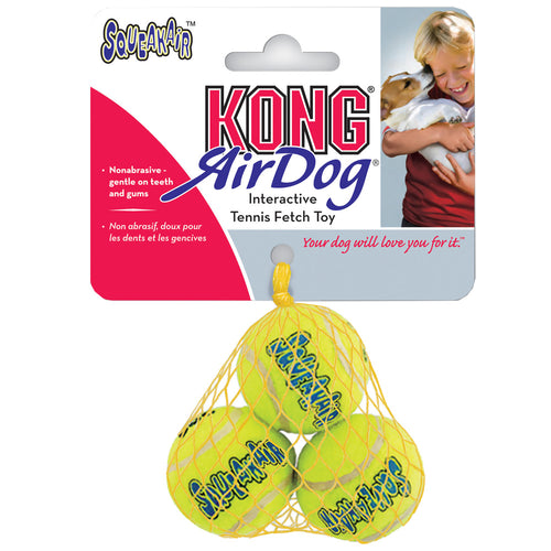 Kong Air Dog Squeaker Tennis Ball Medium 3PK