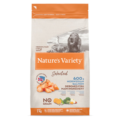 Natures Variety Selected Medium Adult Dog Food Salmon 2kg