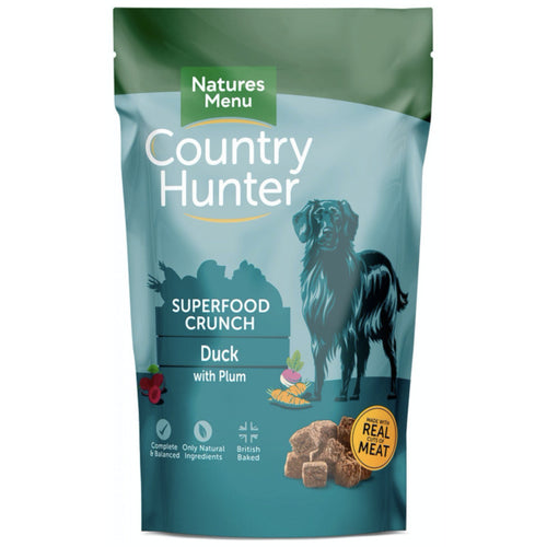 Natures Menu Country Hunter Adult Dog Food Superfood Crunch Duck & Plum, 1.2kg
