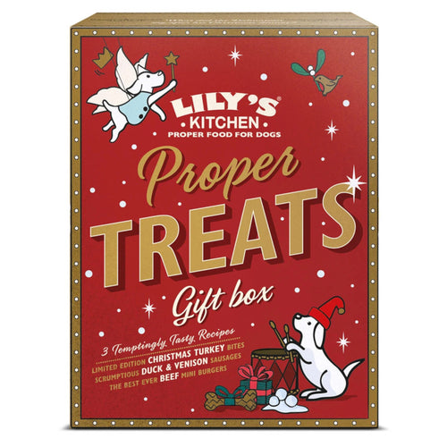 Lilys Kitchen Proper Treats Christmas Gift Box for Dogs 150g
