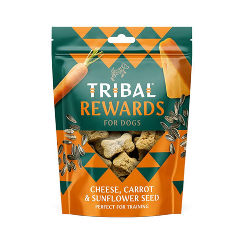 Tribal Rewards Hand Baked Dog Treats Cheese, Carrot & Sunflower Seed 125g