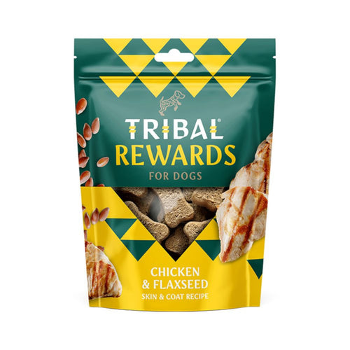 Tribal Rewards Hand Baked Dog Treats Chicken & Flaxseed 125g