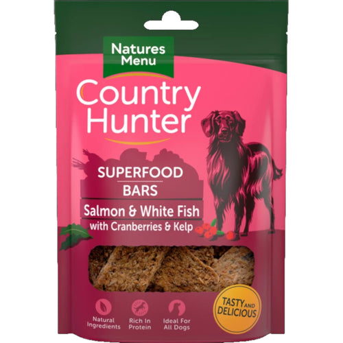 Natures Menu Country Hunter Superfood Dog Treat Bars Salmon & White Fish with Cranberries & Kelp
