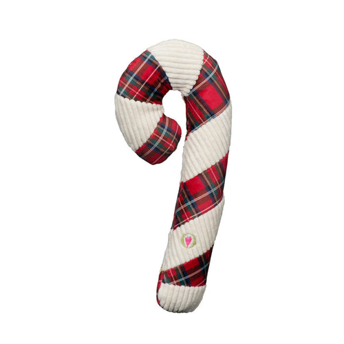 Hugglehounds Totally Tartan Candy Cane Large