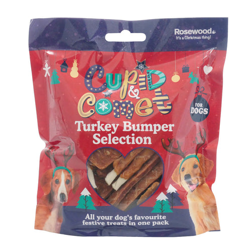 Rosewood Turkey Dog Treats Bumper Christmas Selection Pack 300g