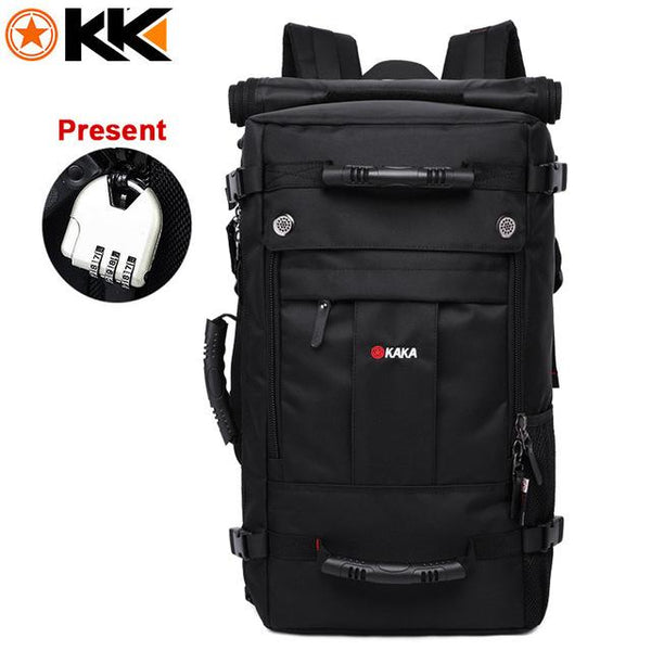 Shoulder Luggage 40L Large Capacity Polyester Backpack - LuxurenaMall