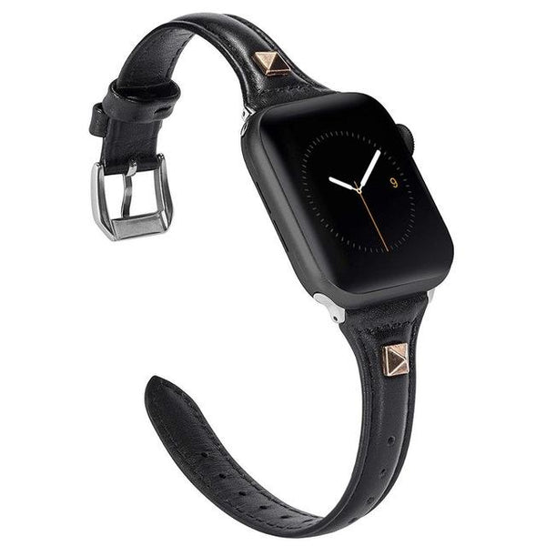 Slim Leather For Apple Watch Band iWatch - LuxurenaMall