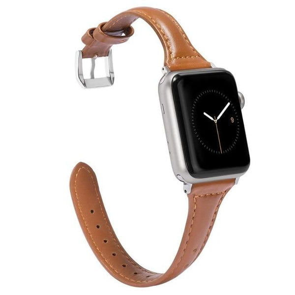 Slim leder voor de Apple Watch Band - ik kijk LuxurenaMall