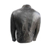Mens Classic Fitted Designer Style Black Leather Biker Jacke - LuxurenaMall