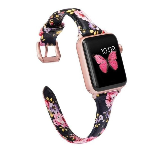 Slank leer voor Apple Watch Band iWatch - LuxurenaMall