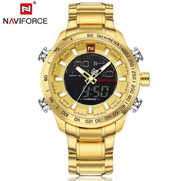 NAVIFORCE Luxus Herren Quarz Analoge Uhr Mode Sport Digital LED Uhr Wasserdicht Männchen Uhren Uhrmann Relogio Masculino-Luxus-Mall