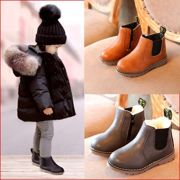 Kids Fashion Boots - LuxurenaMall