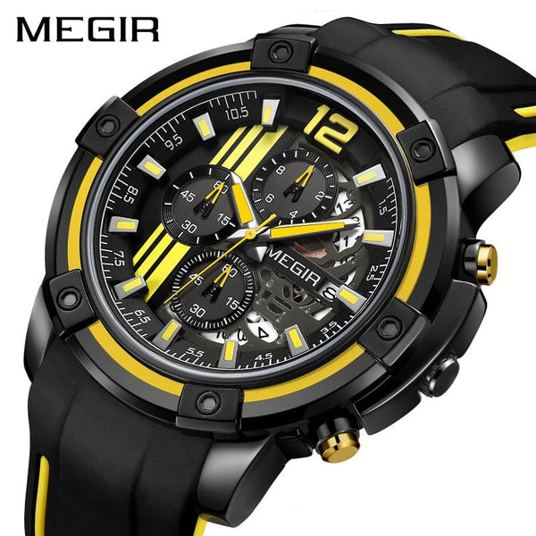 MERIF Quartz Men Watch with Chronograph Big Dial Army Military Wrist Watches Men Clock Hour Time Montre Homme Relogio Masculino-LuxurenaMall