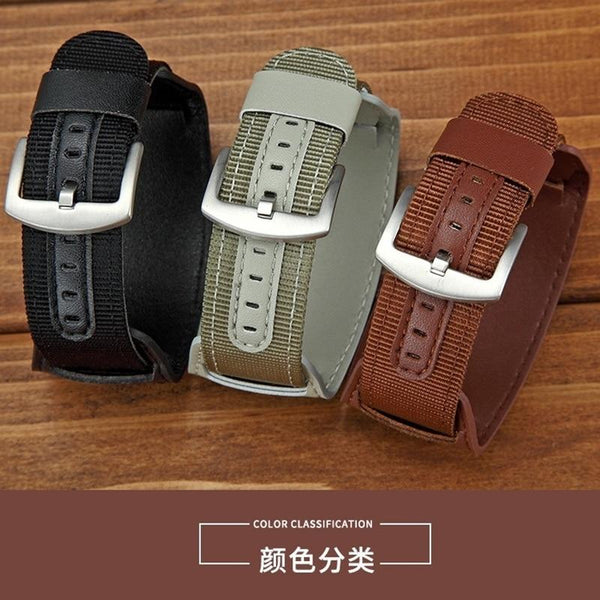 Montre en cuir en cuir en nylon Watchband - LuxurenaMall