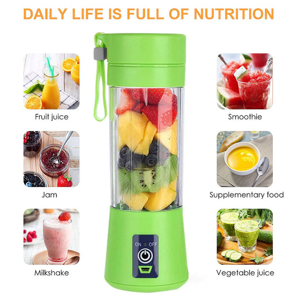 380ml Smart Rechargeable Bottle Multipurpose Juicer - LuxurenaMall