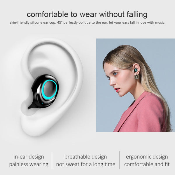 HIFI Sound Noise Reduction 3500mAh LED Bluetooth Wireless Earbuds & Power Bank