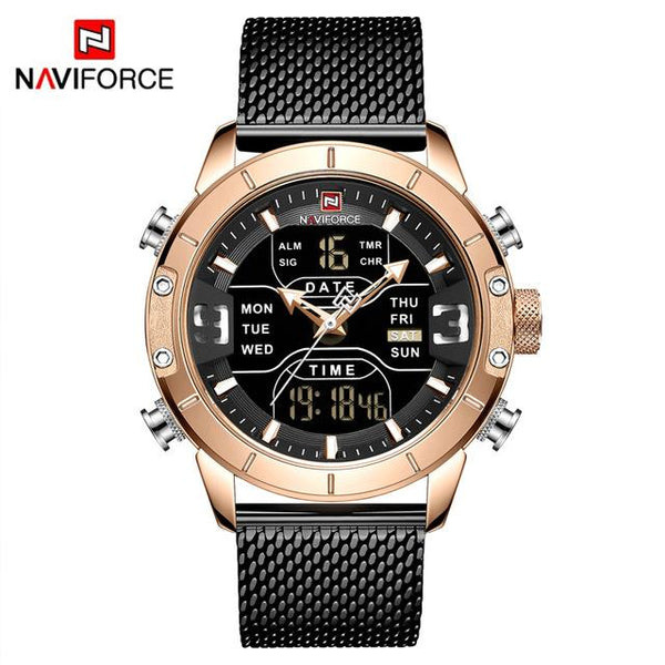 NAVIFORCE Men Analog Digital Watches Mens Military Sport Quartz Watch Male Dual Display Water Defense Clock Relogio Masculino - LuxurenaMall