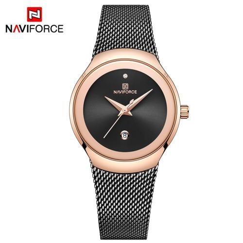NAVIFORCE Women Watches Top Luxury Brand Fashion Silver Simple Quartz Female Waterproof Watch Lady Casual Clock Relogio Feminino - LuxurenaMall