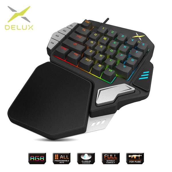 Single-handed Mechanical Gaming keyboards - LuxurenaMall