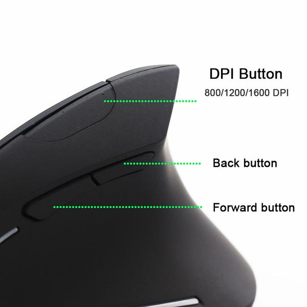 Sovawin Vertical Wireless Rechargeable Gaming Mouse - LuxurenaMall