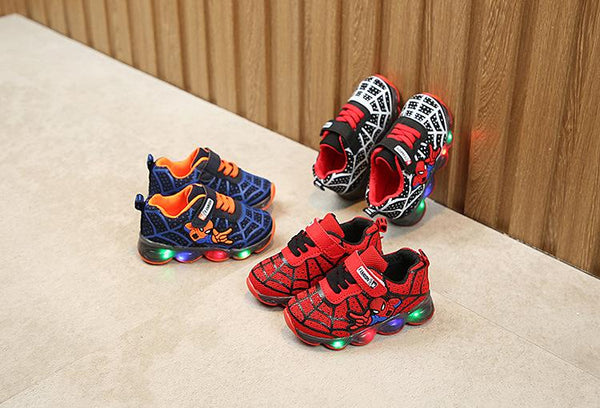 Chaussures LED Spiderman - LuxurenaMall