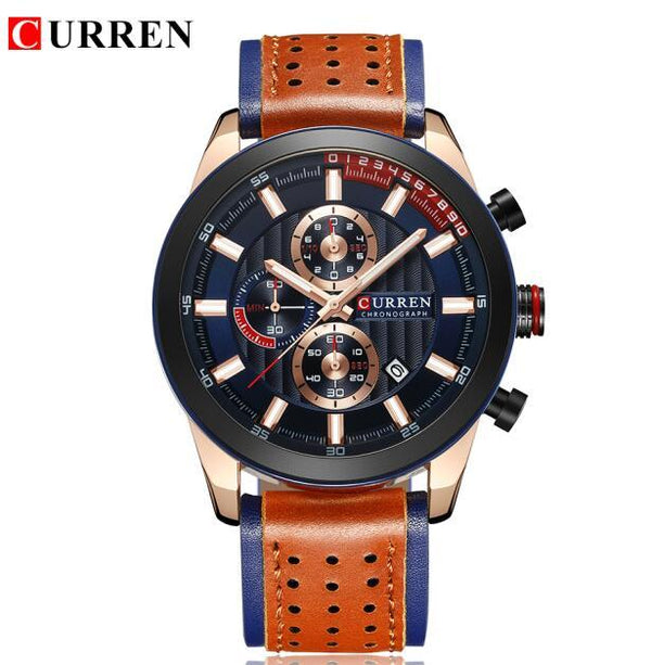 Curren Fashion Watches Hommes Casual Military Sports Watch Quartz Analogique Montre-bracelet Horloge Male Hour Religio Masculino Meilleur cadeau - LuxurenaMall
