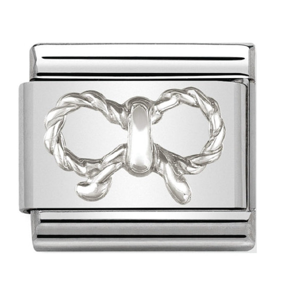 Bow Silver Charm