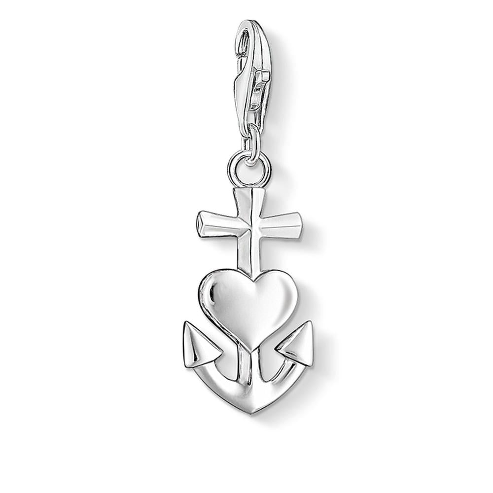 Cross, Heart and Anchor Charm