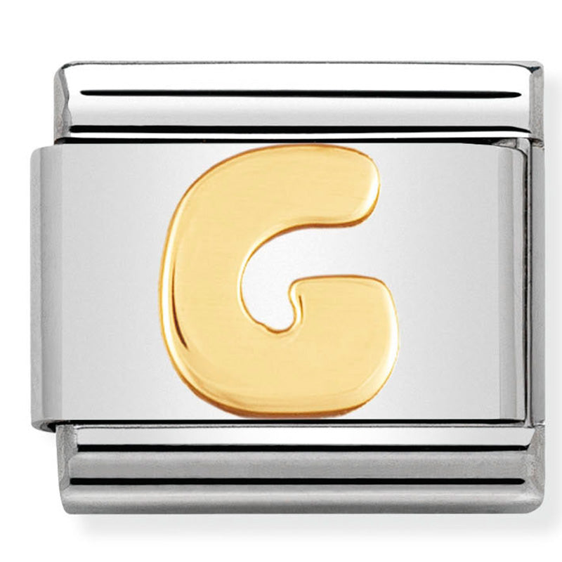 Nomination letter G yellow gold