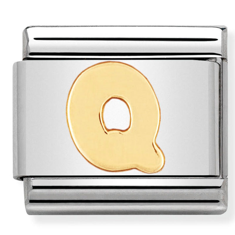 Nomination Letter Q Yellow Gold Charm