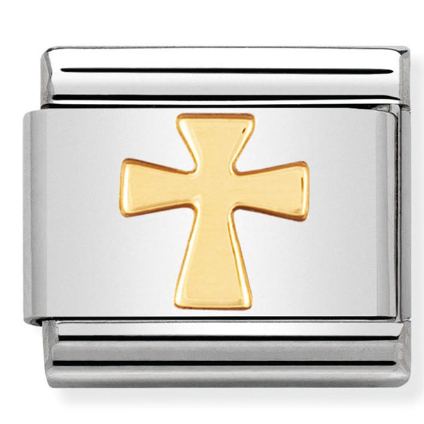 Nomination Cross Religious Symbol Gold Charm