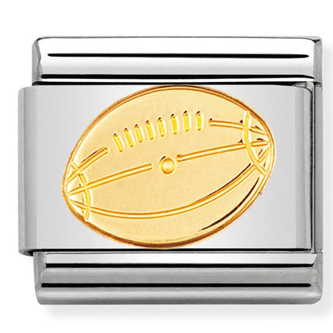 Nomination American Football Gold Charm