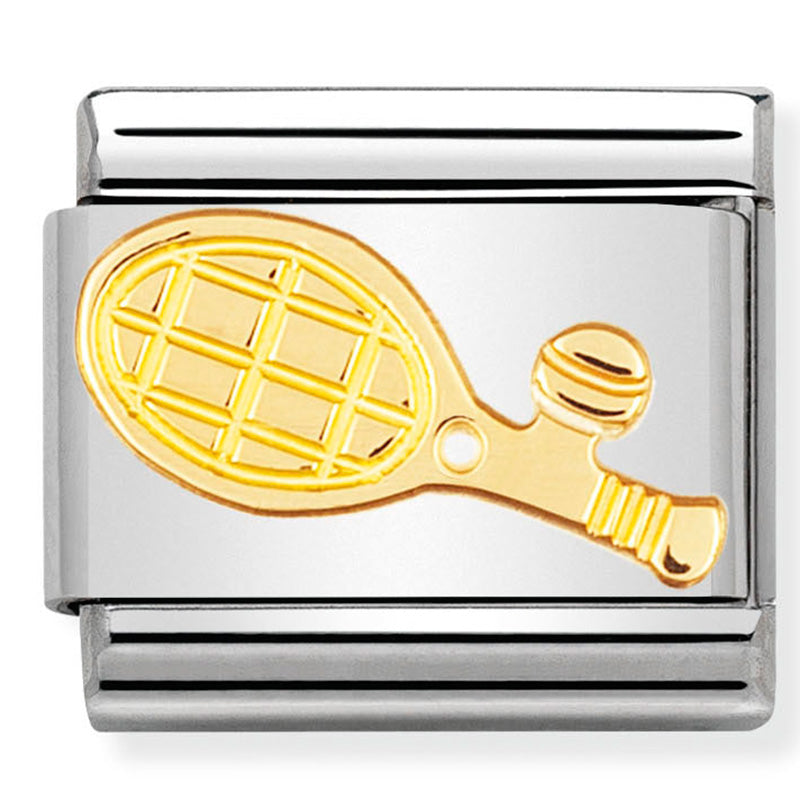 Nomination Tennis Racket Gold Charm