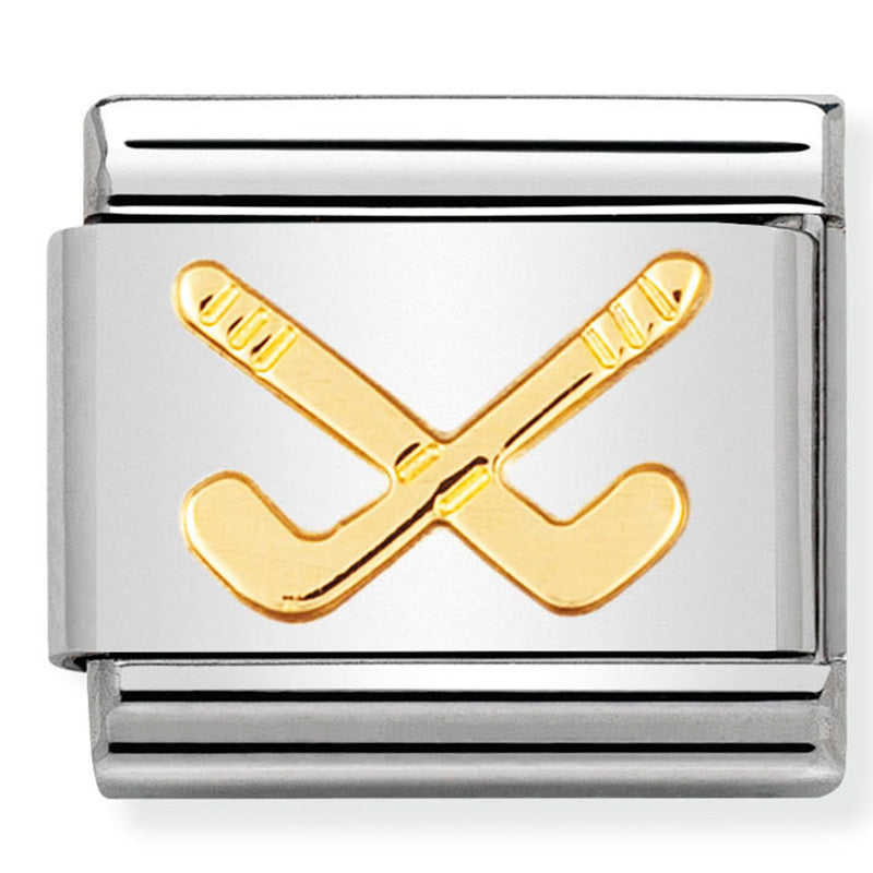 Nomination Hockey Clubs Gold Charm