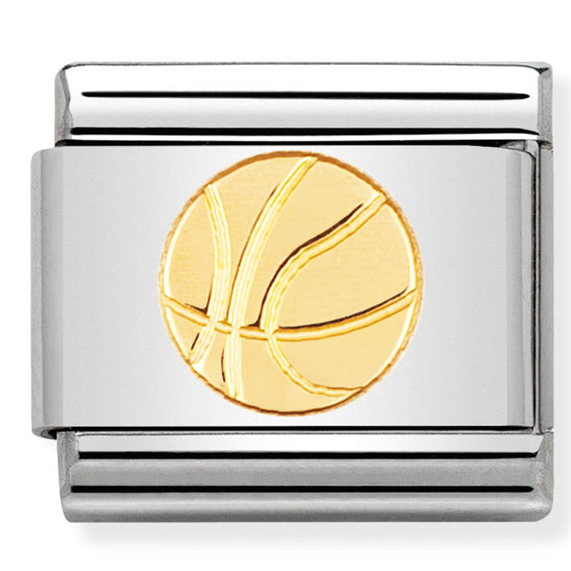 Nomination Basketball Gold Charm
