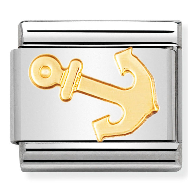 Nomination Sailing Anchor Gold Charm