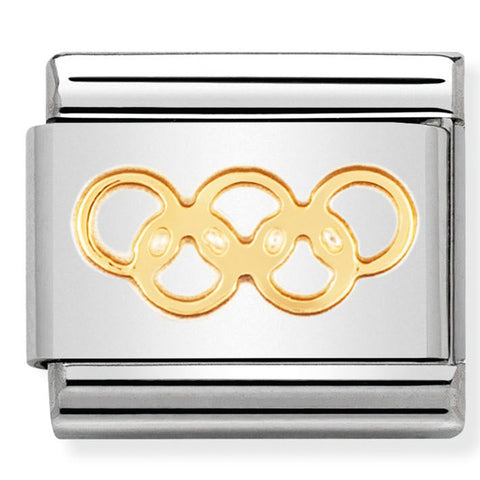 Nomination Sporty Rings Symbol Gold Charm