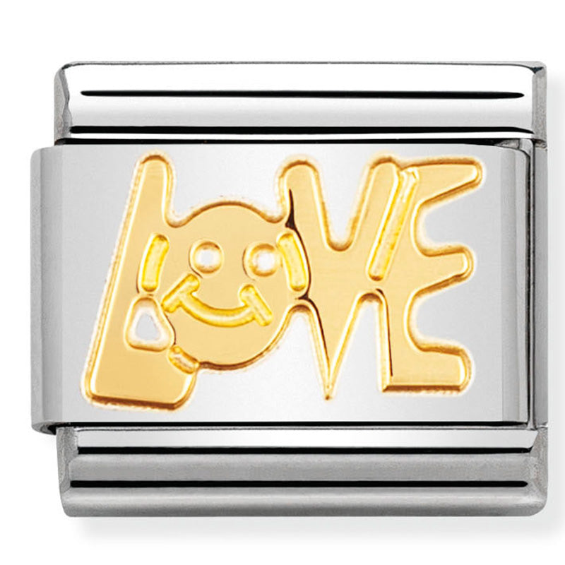 Nomination Love Message Gold Charm