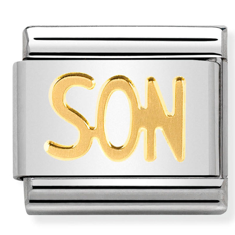 Nomination Son Gold Charm