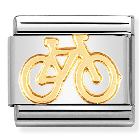 Nomination Bike Gold Charm