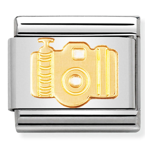 Nomination Camera Gold Charm