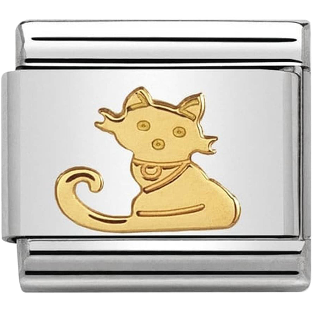 Seated Cat Gold Charm