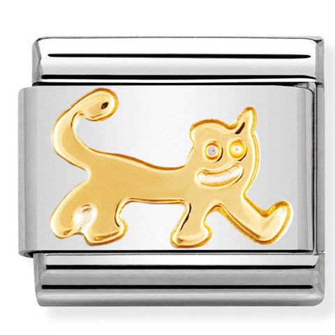 Nomination Cat Gold Charm