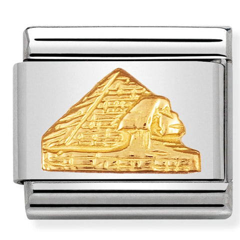 Nomination Egypt Pyramids Gold Charm
