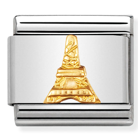Nomination France Paris Eiffel Tower Gold Charm
